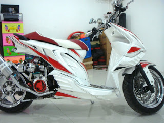 ide modifikasi motor matic suzuki nex