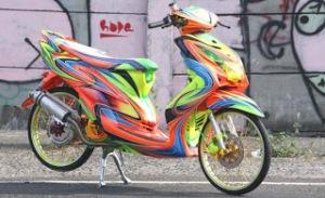 Modifikasi Motor Yamaha Mio3